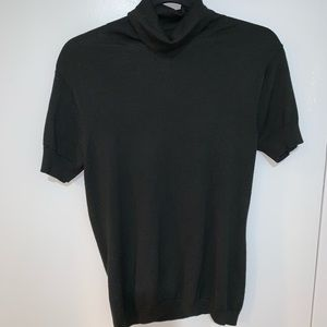 Banana Republic Short Sleeve Black Turtle Neck